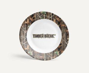 Longleaf Camo Kitchen TimberBreak Logo Plate