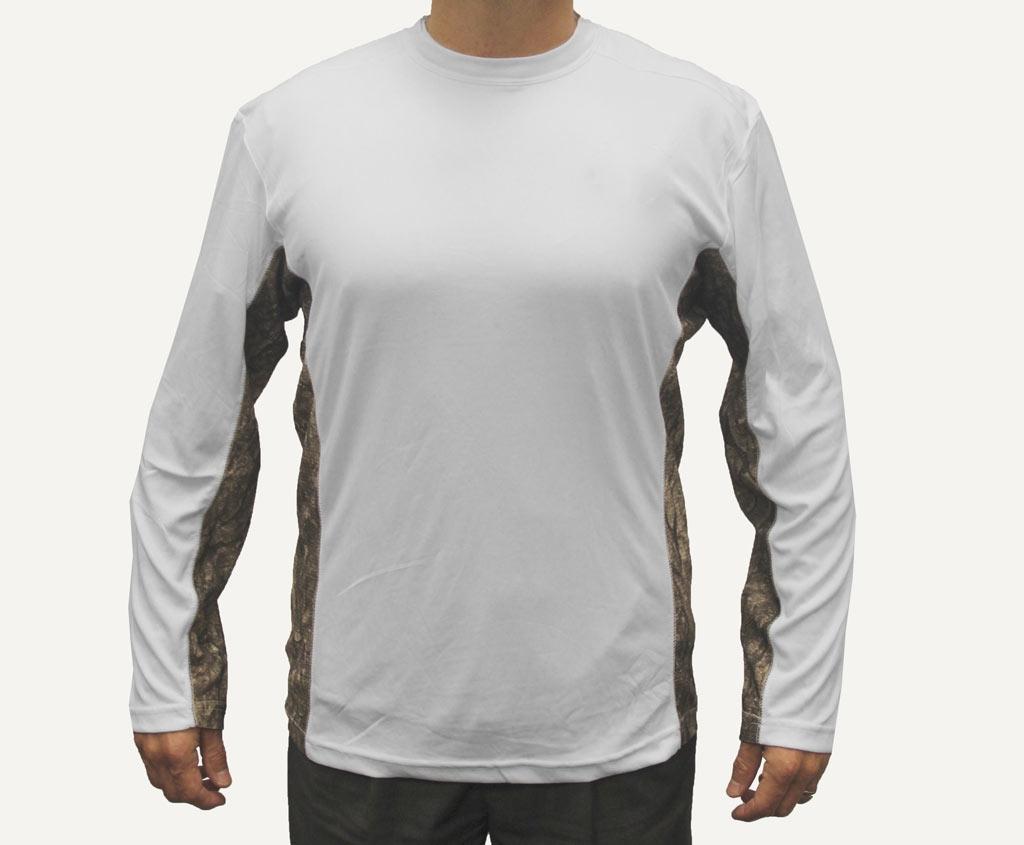 Performance White T Shirt /LS
