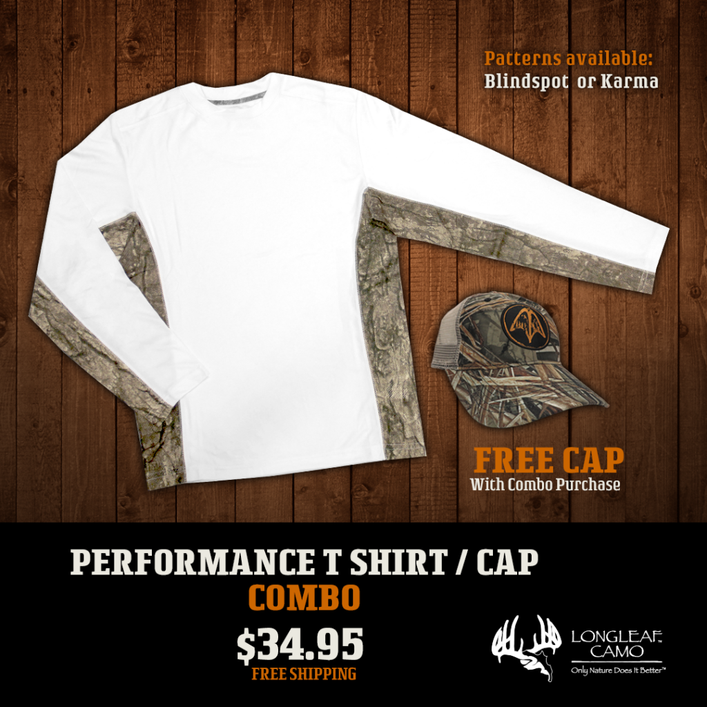 Performance Whtie T Shirt/LS with Free Cap