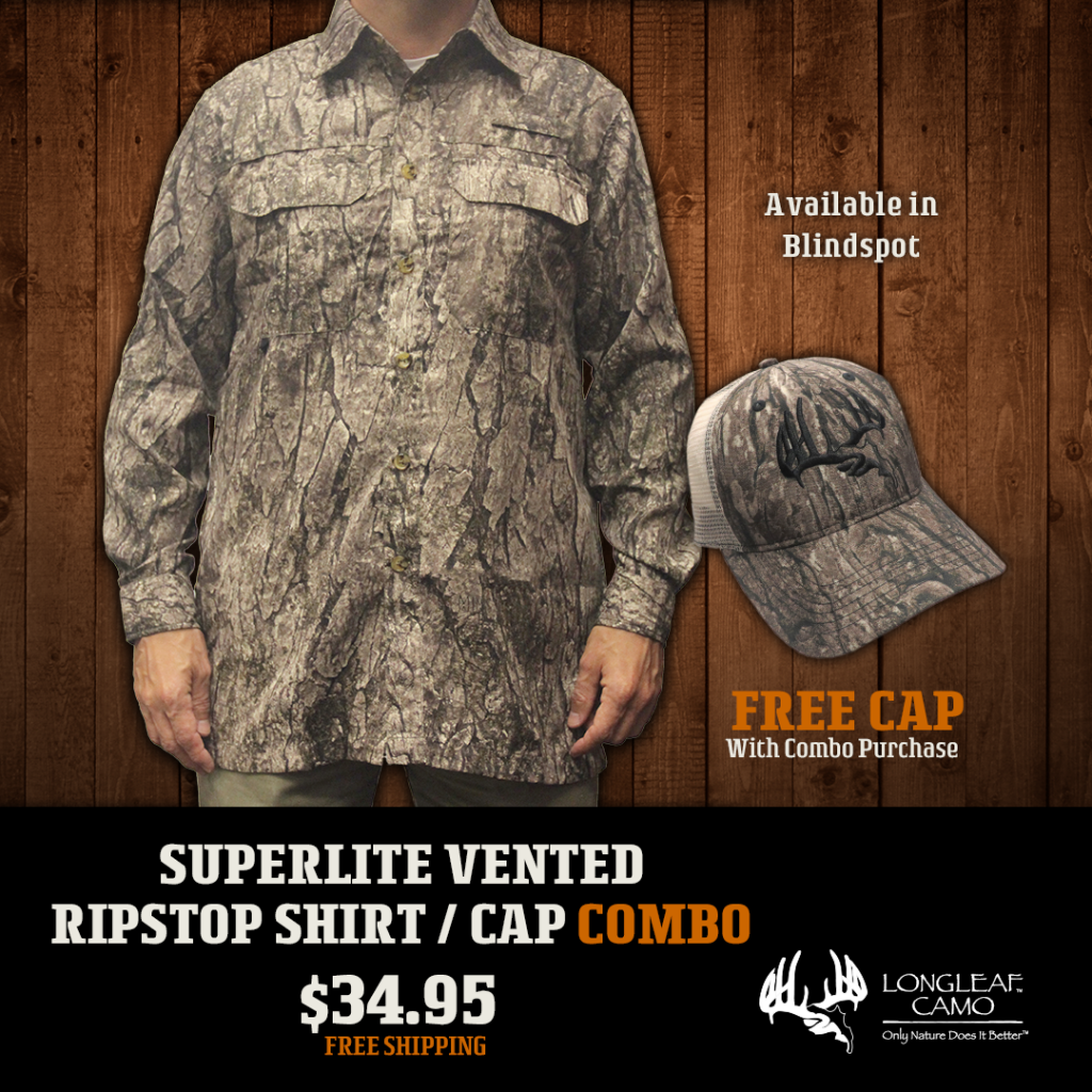 SuperLite Vented RipStop Shirt /LS  with Free Cap